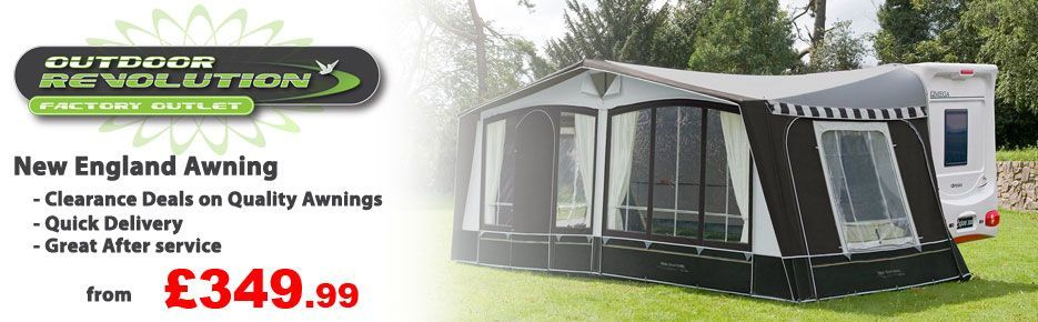 Clearance awnings from Outdoor Revolution