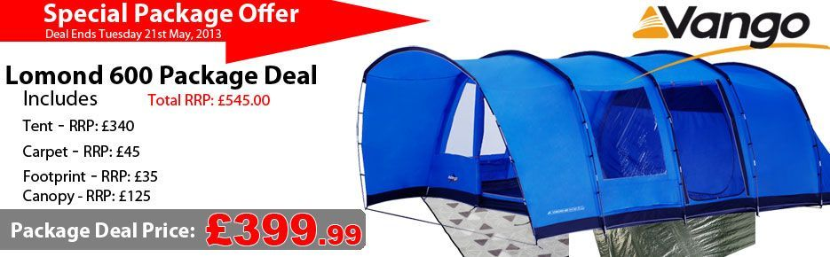 Includes Carpet, Footprint, awning and tent.